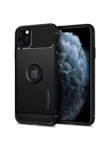 Spigen iPhone 11 Pro Max Kılıf, Rugged Armor Siyah